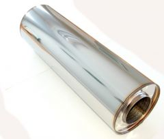 "4"" stainless silencer round 190mm, L=615mm"