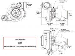 BorgWarner EFR 8374B AR 0.83 turbo T3 750 hp