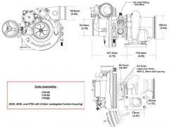 BorgWarner EFR 6758A AR 0.64 T25 turbo 500 hp