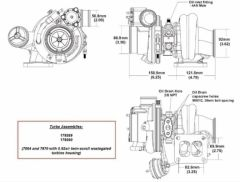 BorgWarner EFR 7064C AR 0.92 T4 turbo 550 hp