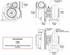 BorgWarner EFR 8374D AR 1.05 T4 turbo 750 hp