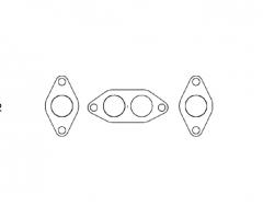 Ford Kent manifold flange set, Race