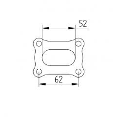 Ford Cosworth YB manifold flange set