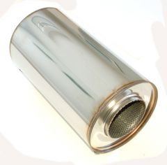 """4"""" stainless silencer round 190mm, L=350mm"""