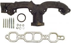 Chevy SB cast manifold left outlet 2""