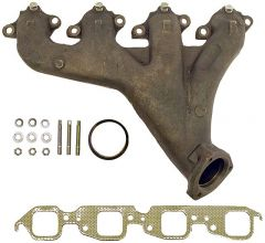 Chevy BB cast manifold left angled outlet