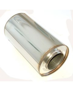 "4"" stainless silencer round 190mm, L=350mm"