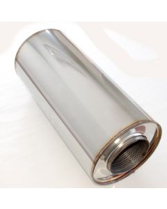 "4"" stainless silencer round 190mm, L=420mm"