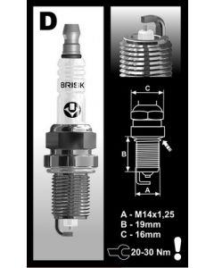 Brisk spark plug 1602-2002 2 steps colder