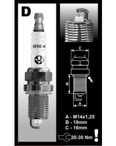Brisk spark plug K-engine stock heat range