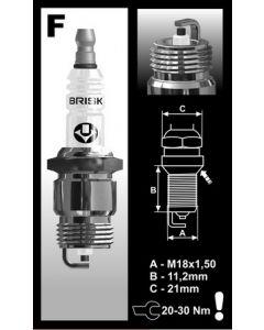 Brisk spark plug Escort OHC