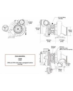 BorgWarner EFR 7064B AR 0.83 T3 turbo 550 hp