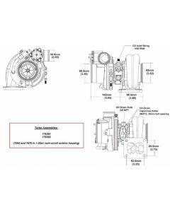 BorgWarner EFR 7064D AR 1.05 T4 turbo 550 hp