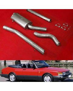 """JT Saab 900 turbo 85-93 3"""" cat-back 1 silen"