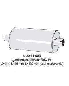 "Silencer 2"" Big 51 inox"