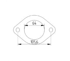 """Nissan cat flange 2.5"""" stainless"""