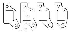 Ford Pinto OHC manifold flange set