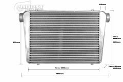 "Tube-fin intercooler 600x450x85 3"""