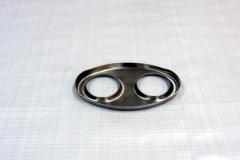 Muffler Endplate 100x165mm 2x51mm