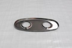Muffler Endplate 100x240mm 2x45mm
