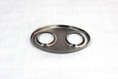 Muffler Endplate 115x185 2x51mm