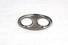 Muffler Endplate 115x185 2x63mm