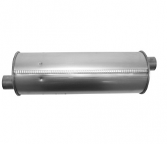"Muffler 2"" ID In/Out L=18"" Body 6"" Round O/O"