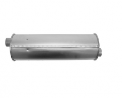 "Muffler 2"" ID In/Out L=19"" Body 6"" Round O/O"