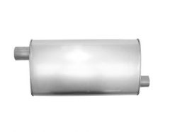 "Muffler 2,5"" ID In / 2,25"" OD Out L=20"" Body 4""x10,5"" O/O"