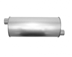 "Muffler 2,75"" ID In / 2,75"" OD Out L=22"" Body 7""x9"" O/O"
