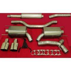 """JT Saab 9-3 SS/SC 03-11' 3"""" Turboback Twinpipe Exhaust 2.0l Turbo & V6 Turbo"""