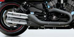 Super Trapp Kerker K Series Aluminum Slip Ons Mufflers VRSCD.  V-ROD '06-17