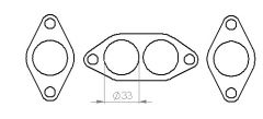 Ford Kent manifold flange set, Race