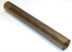 Perforated tube 63.5x1.2 mm AISI409 INOX