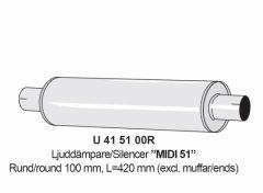 """Äänenvaimennin 2"""" Midi 51 RST"""