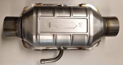 """Catalytic Converter W Air pipe. 2.5""""."""