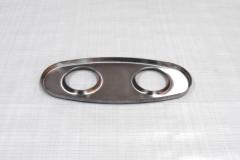 Muffler Endplate 100x240mm 2x51mm