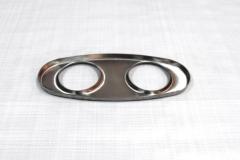 Muffler Endplate 100x240mm 2x63mm