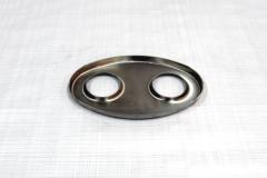 Muffler Endplate 115x185 2x45mm