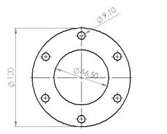 Downpipelaippa, 6-p, pyöreä 66mm