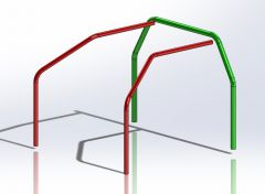 Main hoop low BMW E36 45x2.5 mm seamless