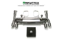 991.2 Carrera Armytrix Valvetronic Chrome cat