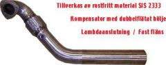 """JT Volvo 850T, V70 3"""" small welded flange downpipe"""