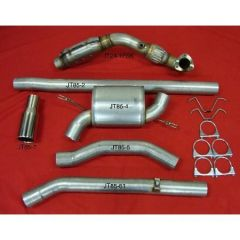 """JT Volvo 850 2wd 3"""" turboback 1 silencer small welded flange downpipe 200CPSI cat"""