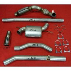 """JT Volvo 850 2wd 3"""" turboback 1 silencer loose flange downpipe 200CPSI cat"""