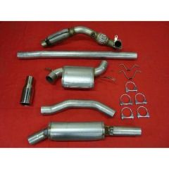 """JT Volvo 850 2wd 3"""" turboback 2 silencer loose flange downpipe 200CPSI cat"""
