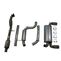 "JT Volvo C30 T5 3"" turboback 2 silencer 100CPSI cat"