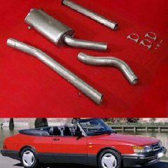 "JT Saab 900 turbo 85-93 3"" cat-back 1 silencer"