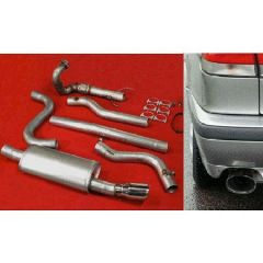 "JT Saab 900 / 93 94-02 3"" turboback 1 silencer decat"