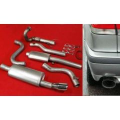 "JT Saab 900 / 9-3 94-02 3"" turboback 2 silencer decat"